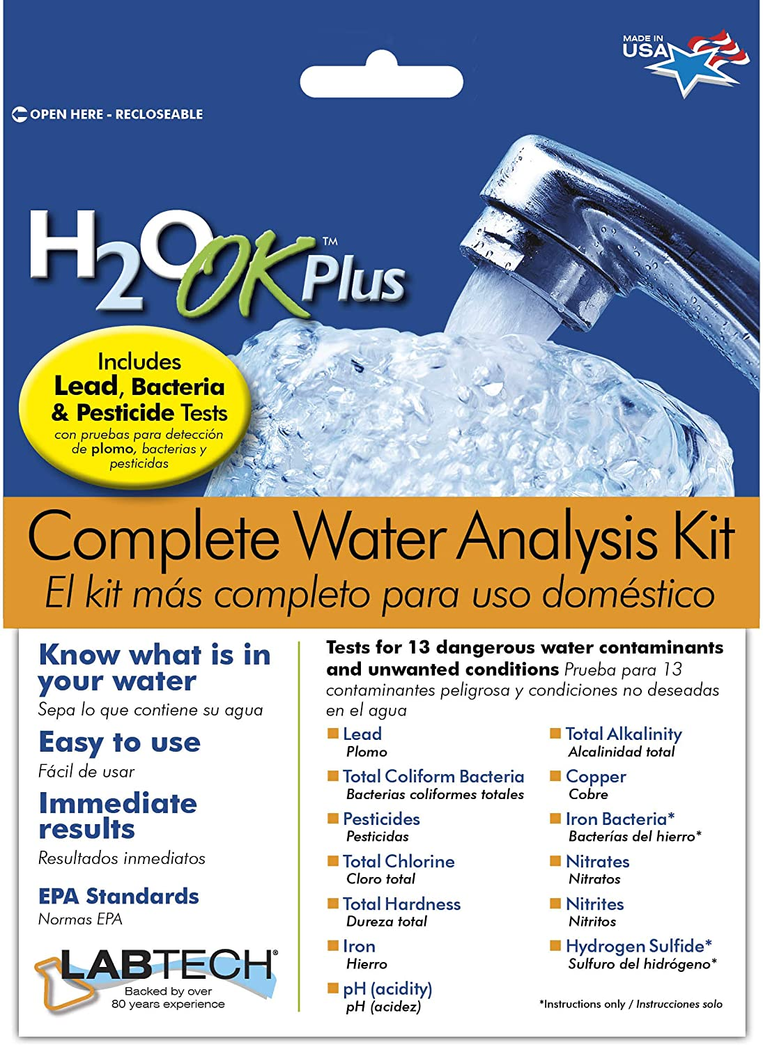 LabTech LT5015 H2O OK Plus Complete Water Analysis Kit