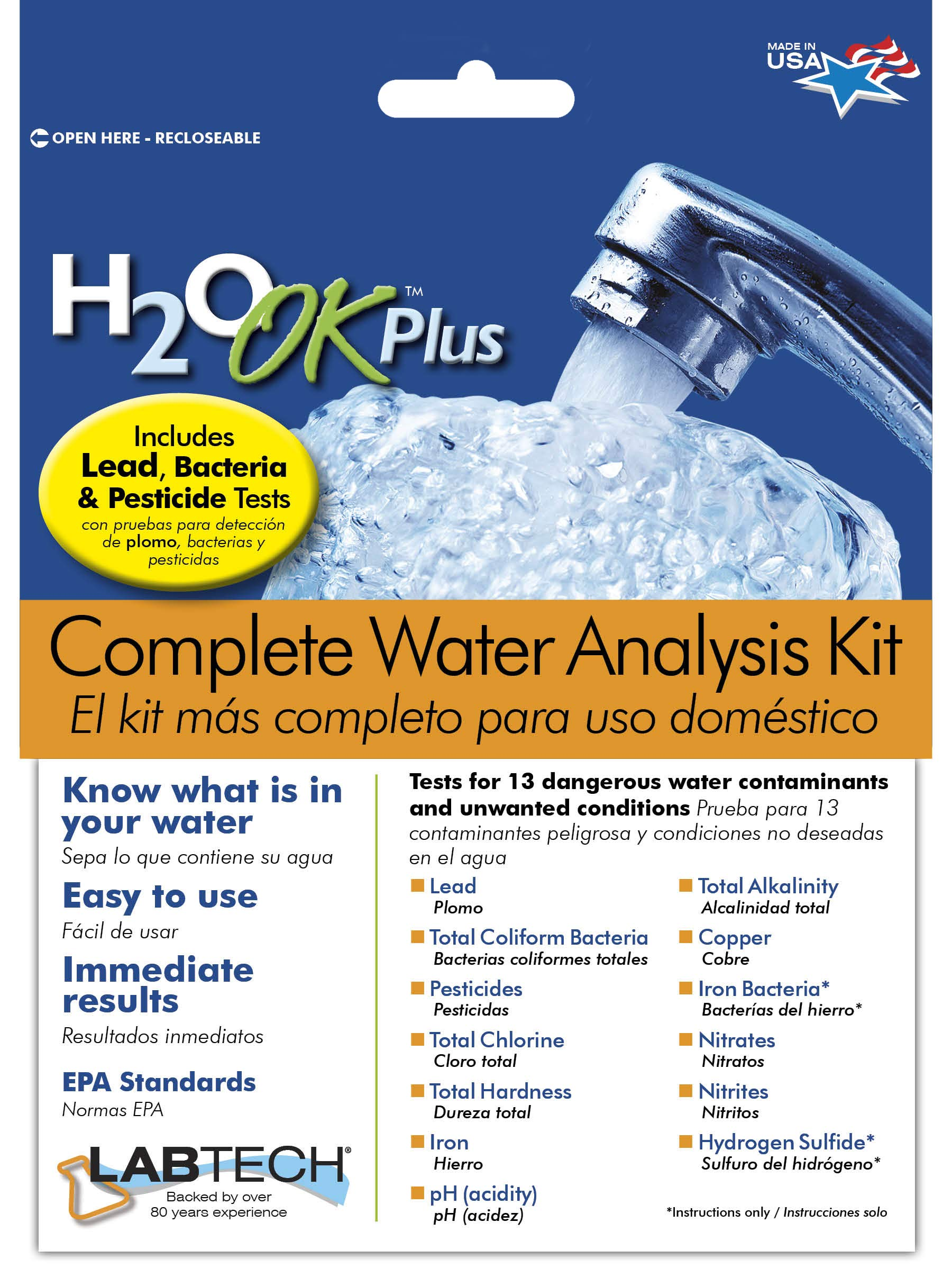 LabTech LT5015 H2O OK Plus Complete Water Analysis Kit by Mosser Lee
