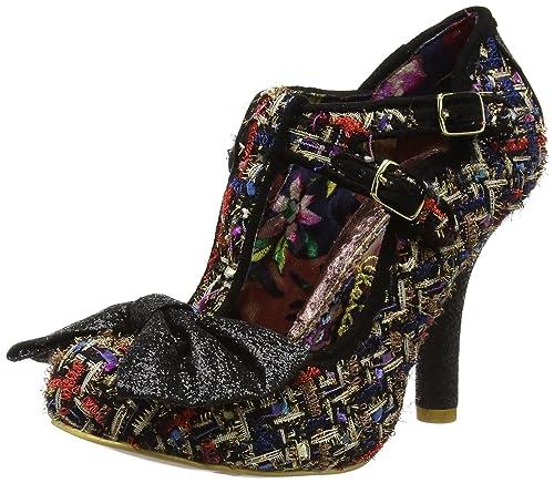 Zapatos de Tacón con Punta Cerrada de Tela Mujer, Color Negro, Talla 39 Irregular Choice