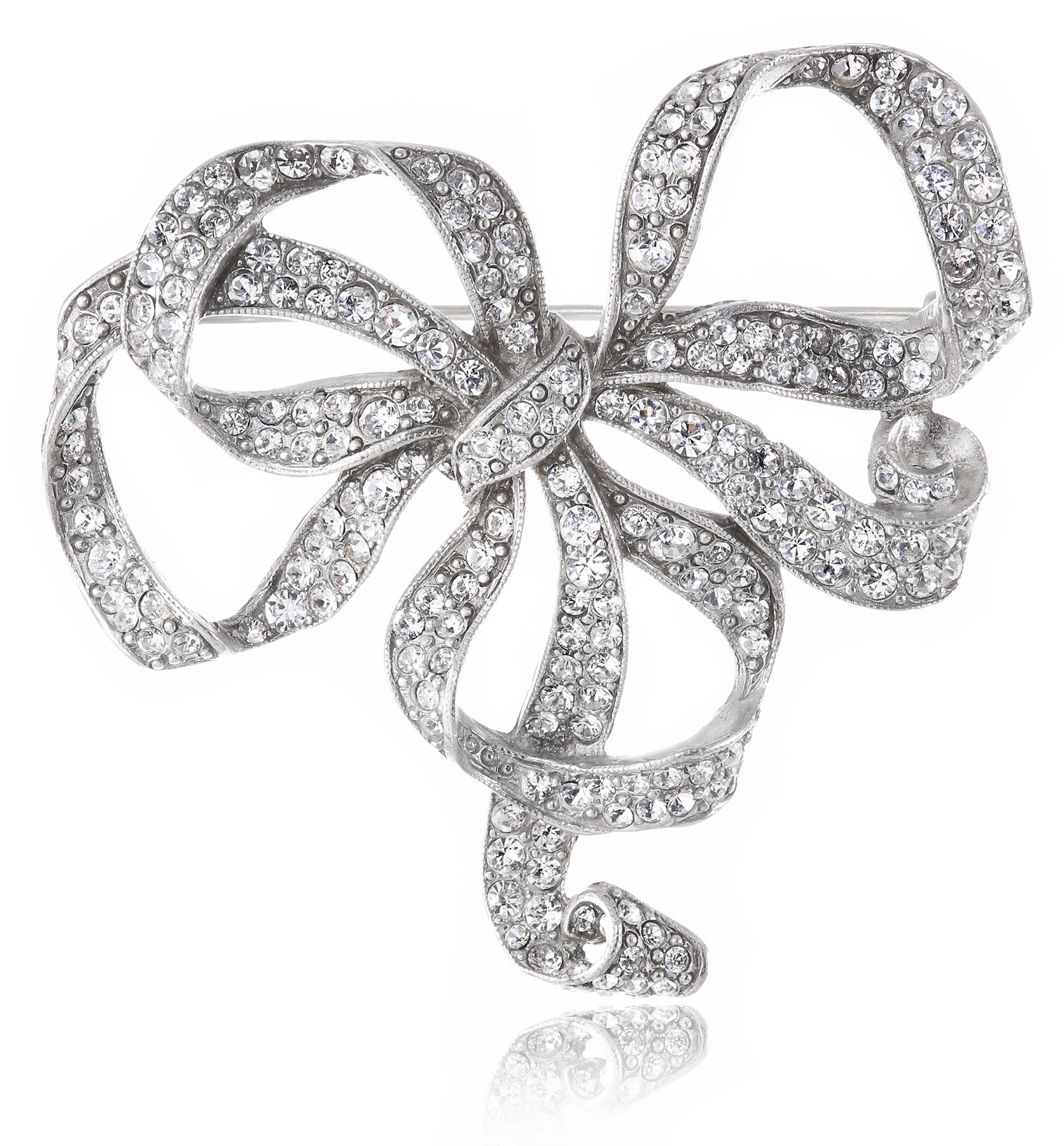 Ben-Amun Jewelry Swarovski Crystal Bow Brooch