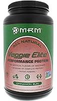 MRM - Veggie Elite Performance Protein, 24 Grams of Plant-Based Protein, Soy-Free, Vegetarian & Vegan Friendly, Non-GMO Project Verified (Cinnamon Bun, 2.2 lbs)