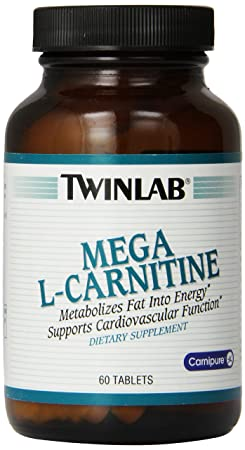 Twin Lab Mega L-carnitine Tablets, 60-Count
