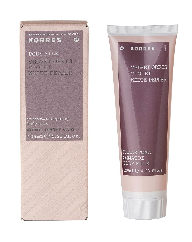 Korres Velvet Orris/Violet/White Pepper ENERGET isierende, Idratante Latte per il Corpo, 125ml KOF-BOD-F-200425