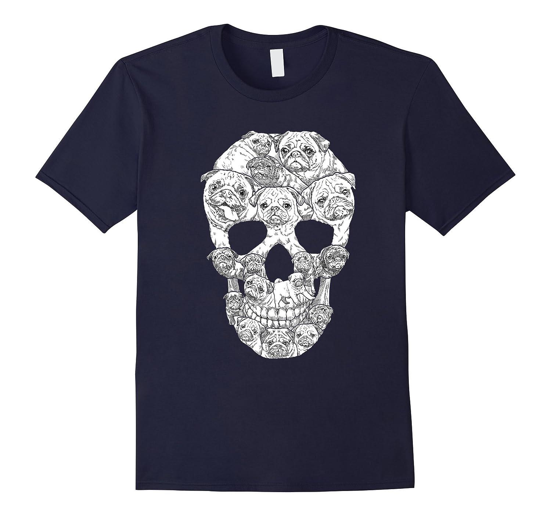 Sugar Pug Skulls T-shirt-TH