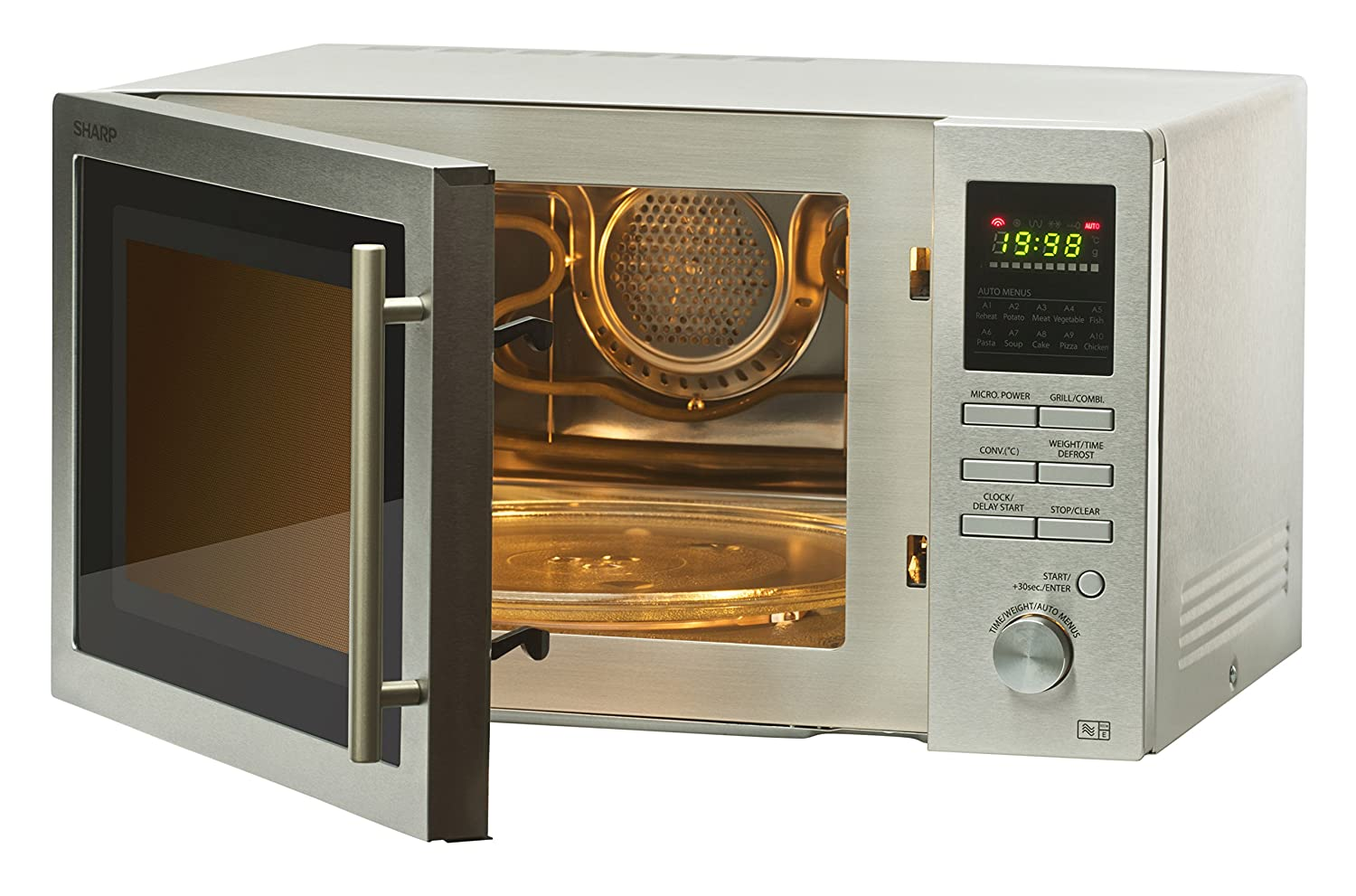 Heavy Duty Microwaves Sharp R82stma Combi Microwave Oven With 1 Year Warranty 25 Litre