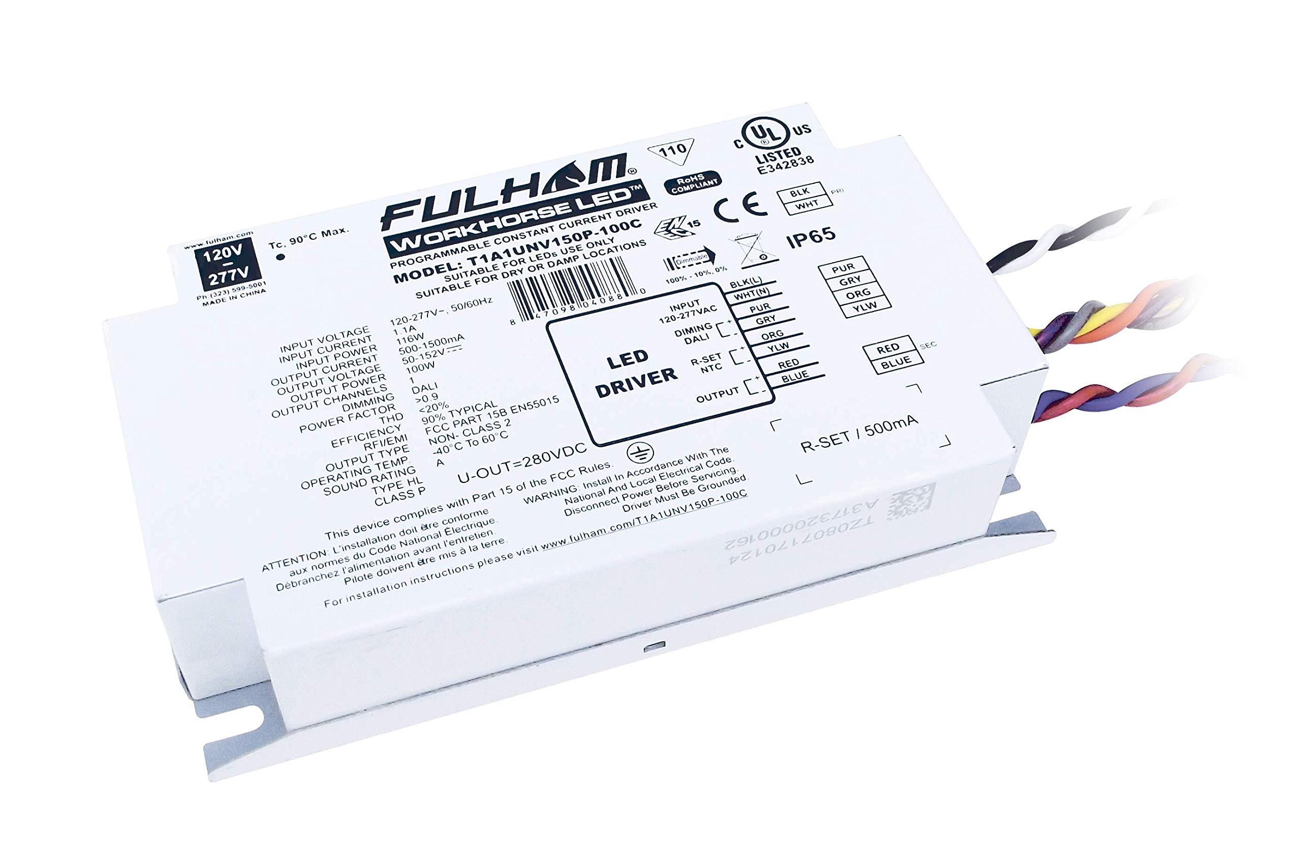 Fulham Lighting LH1-120-L Longhorse 1-Versatile Remote Mount Ballasts-Instant Start-120V-Linear Model w/Side Leads Electronic