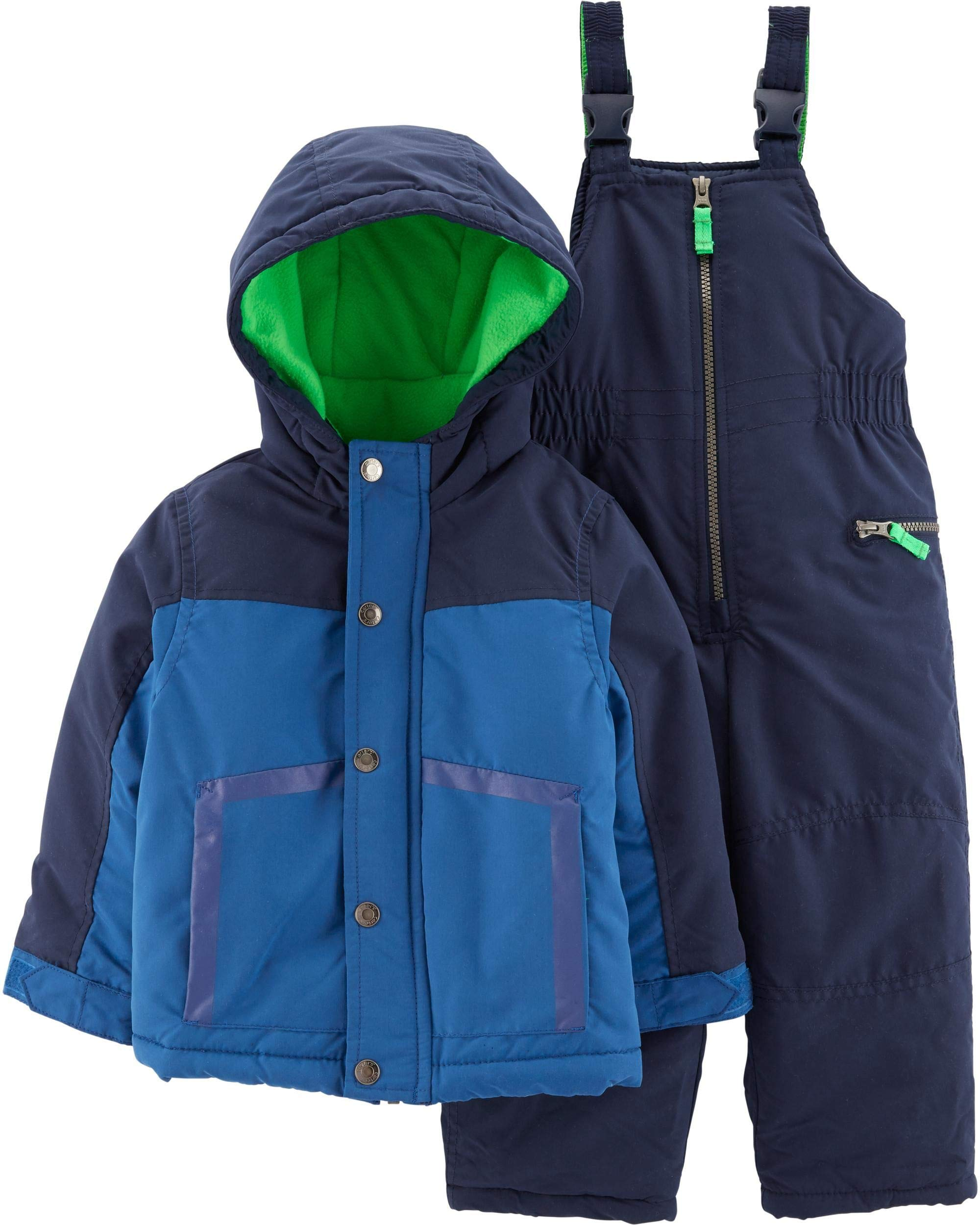 Carter's Boys' Heavyweight 2-Piece Skisuit Snowsuit (House Blue/Current Navy, 8)