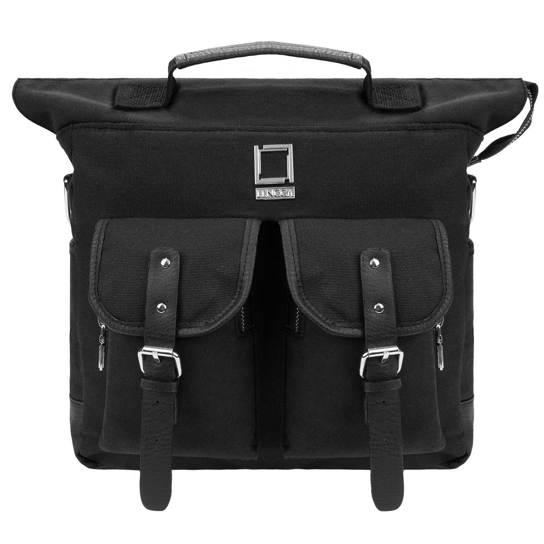 Lencca Durable Shock-proof Canvas Backpack , Duffle , Hybrid Bag 15.6 Inch Laptop Handle Case For Fujitsu LIFEBOOK Black