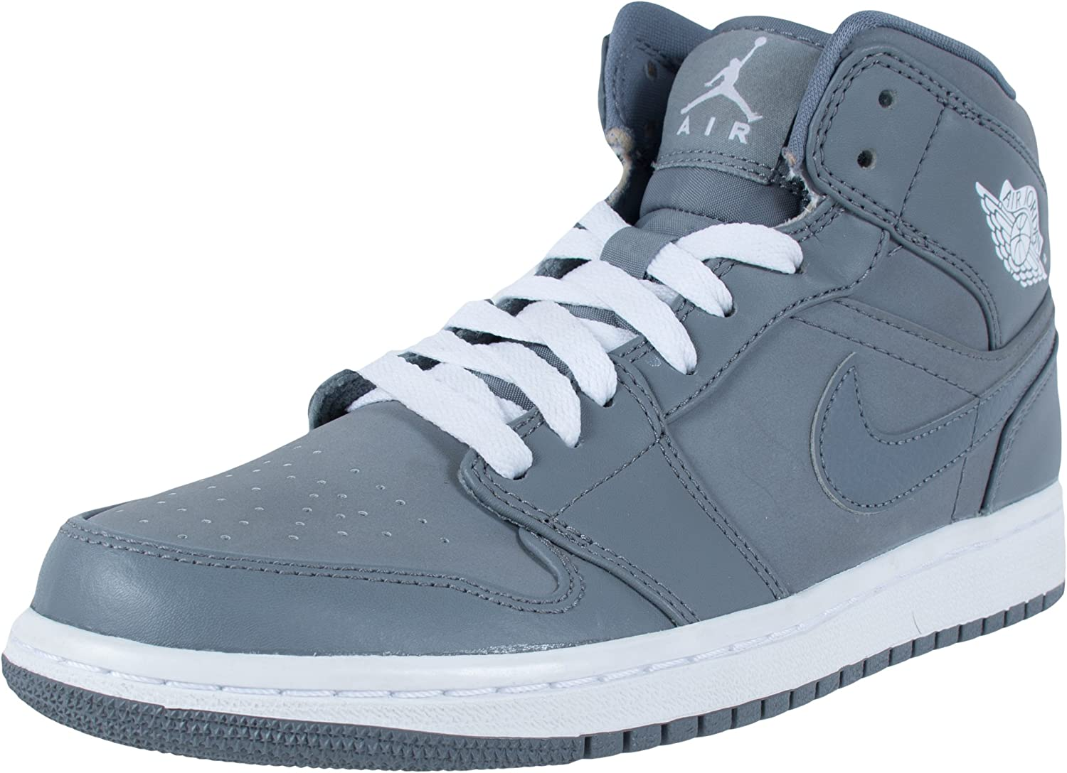 newest collection vast selection arrives Amazon.com | Nike Men's Air Jordan 1 Mid COOL GREY/WHITE/COOL GREY ...