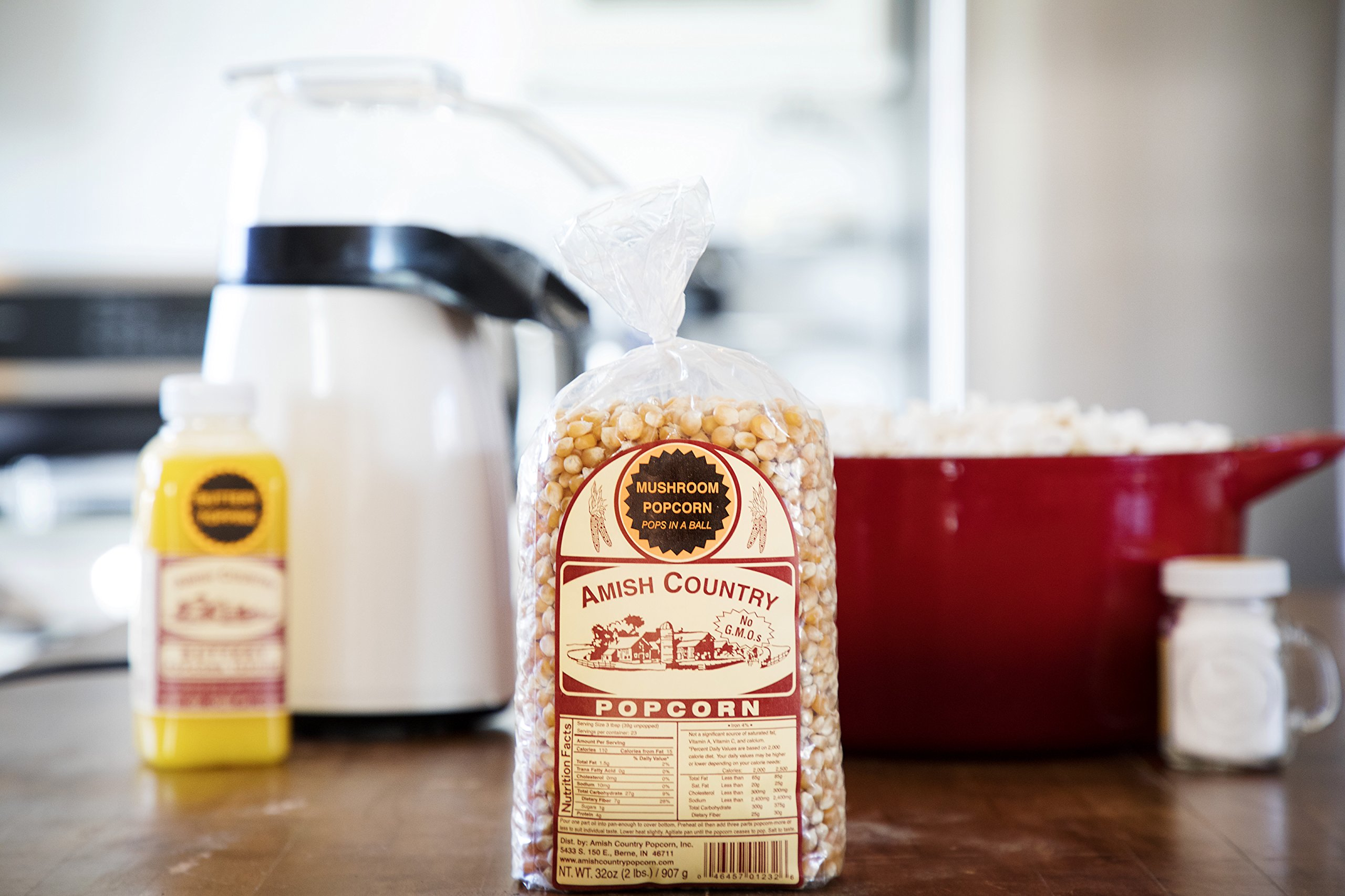 Amish Country Popcorn - Mushroom Popcorn (2 Pound Bag) With Recipe Guide - Old Fashioned, Non GMO, Gluten Free, Microwaveable, Stovetop and Air Popper Friendly by Amish Country Popcorn (Image #4)