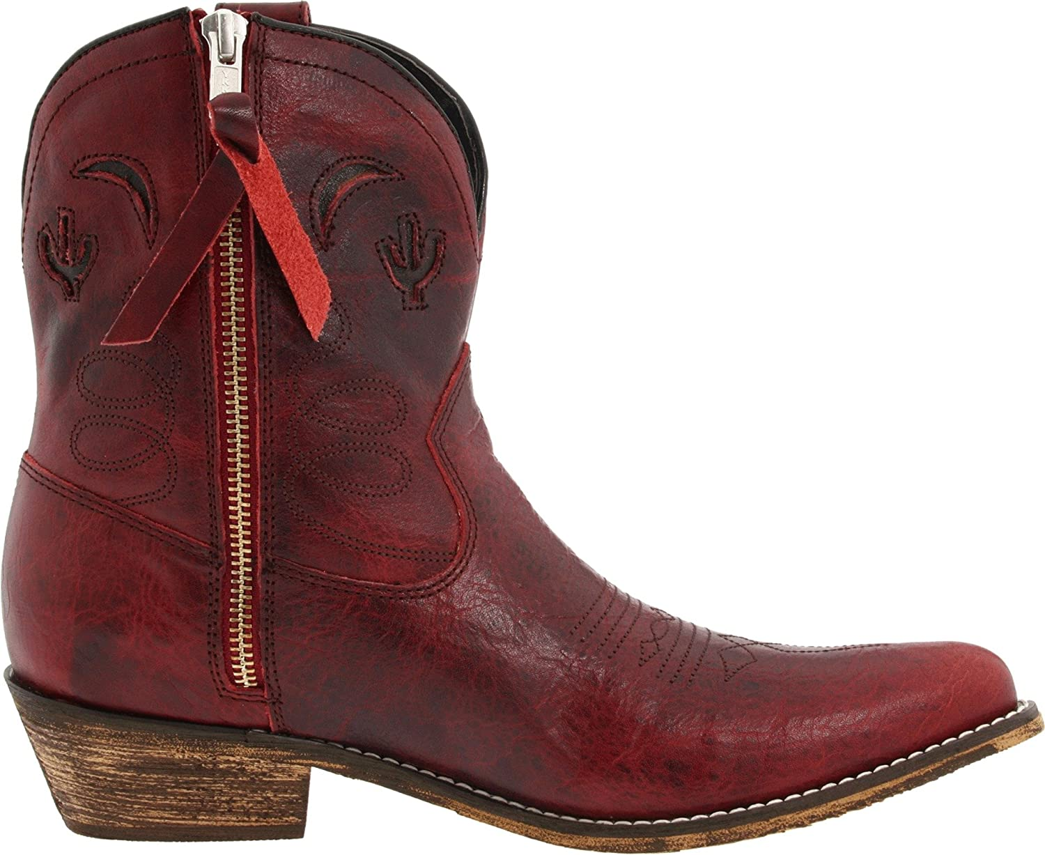 Dingo Women's Adobe Rose Leather Boots B004305G7K 9.5 M US|Red Distressed