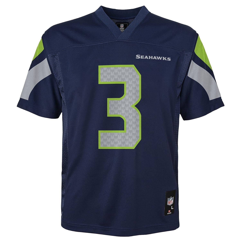 Outerstuff NFL, Seahawks-Trikot für Kinder, Wilson, Marineblau, Kinder-Größe S