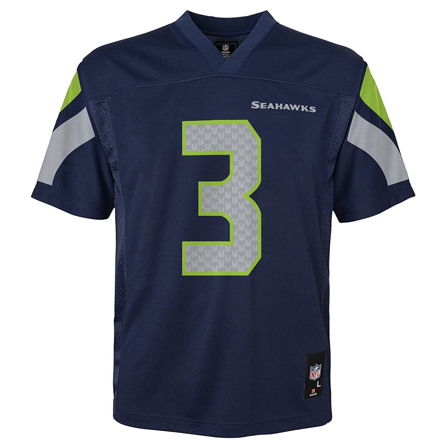 Russell Wilson Seattle Seahawks Youth Jeunes NFL Mid Tier Replica Jersey Maillot   B00ESGCCEE