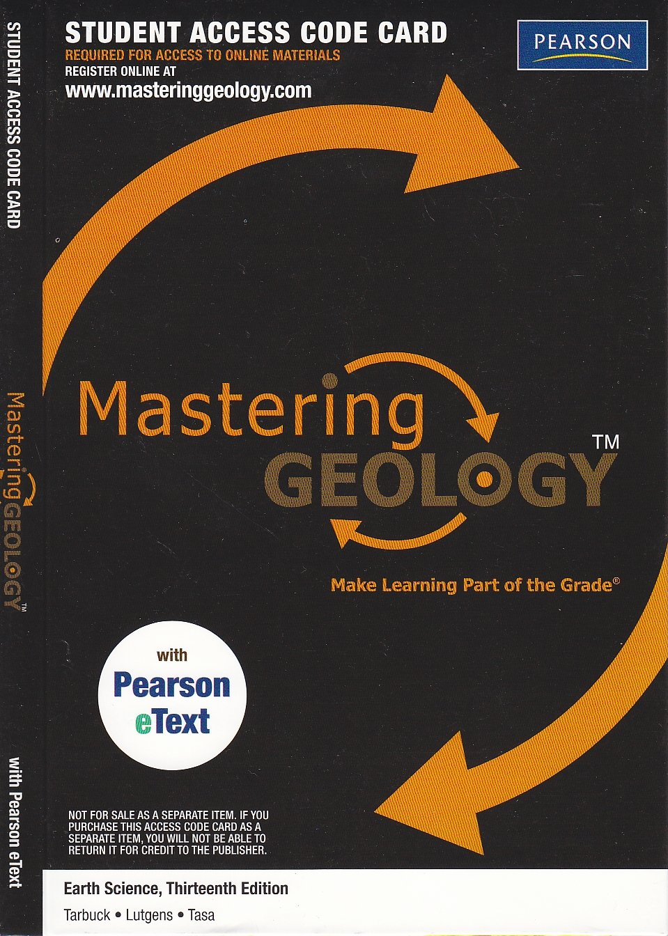 Student access code mastering geology earth science 13th student access code mastering geology earth science 13th 9780321727442 pearson amazon books fandeluxe Image collections