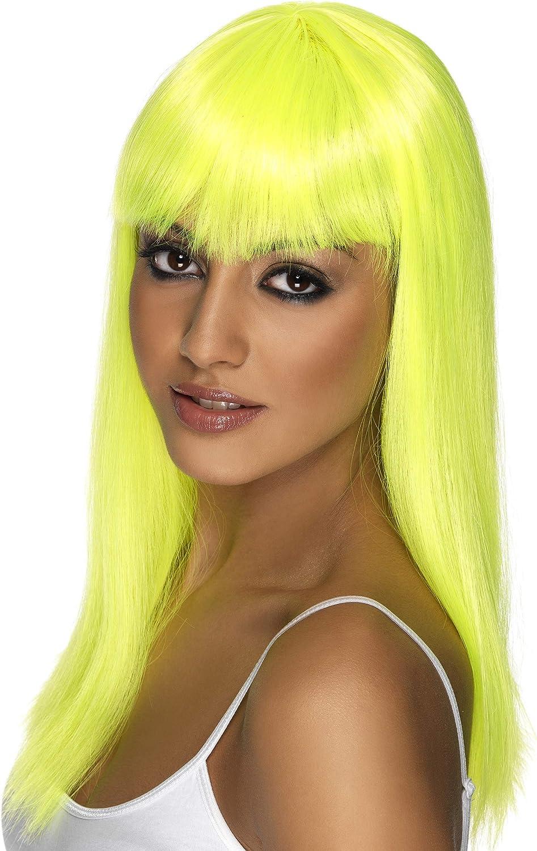 Parrucca glamour giallo fluo donna Generique