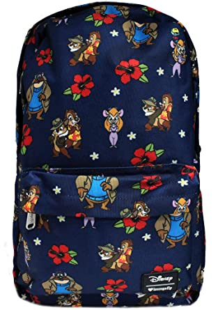 d8a2f7e781 Amazon.com  Loungefly x Disney Chip  N Dale  Rescue Rangers Floral Backpack  (One Size