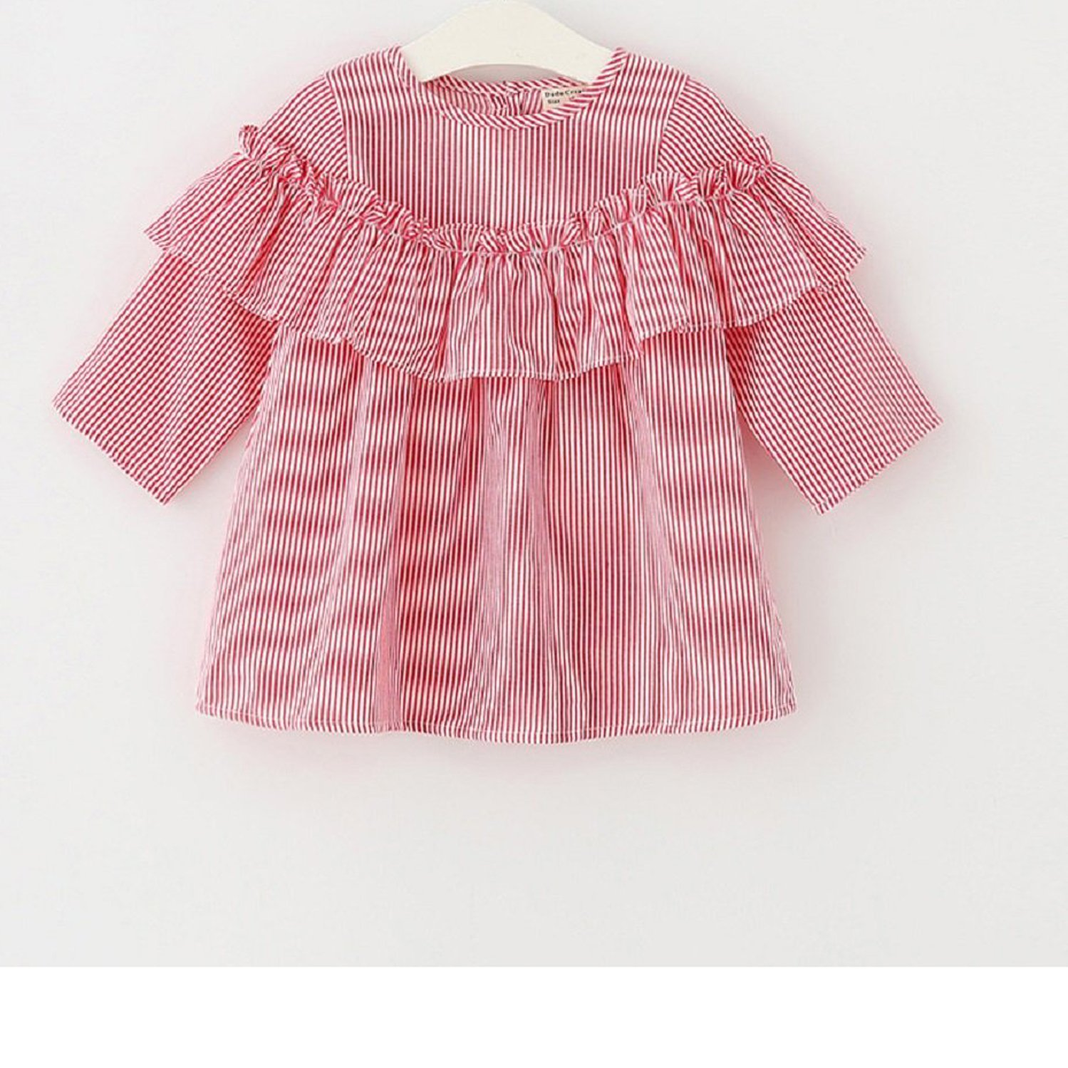 8e98bec121b16 Treafor Toddler Girls Striped Shirt Baby Girl Ruffle T-Shirt Infant Girl  Long Sleeve Blouse Top Outfit Clothes