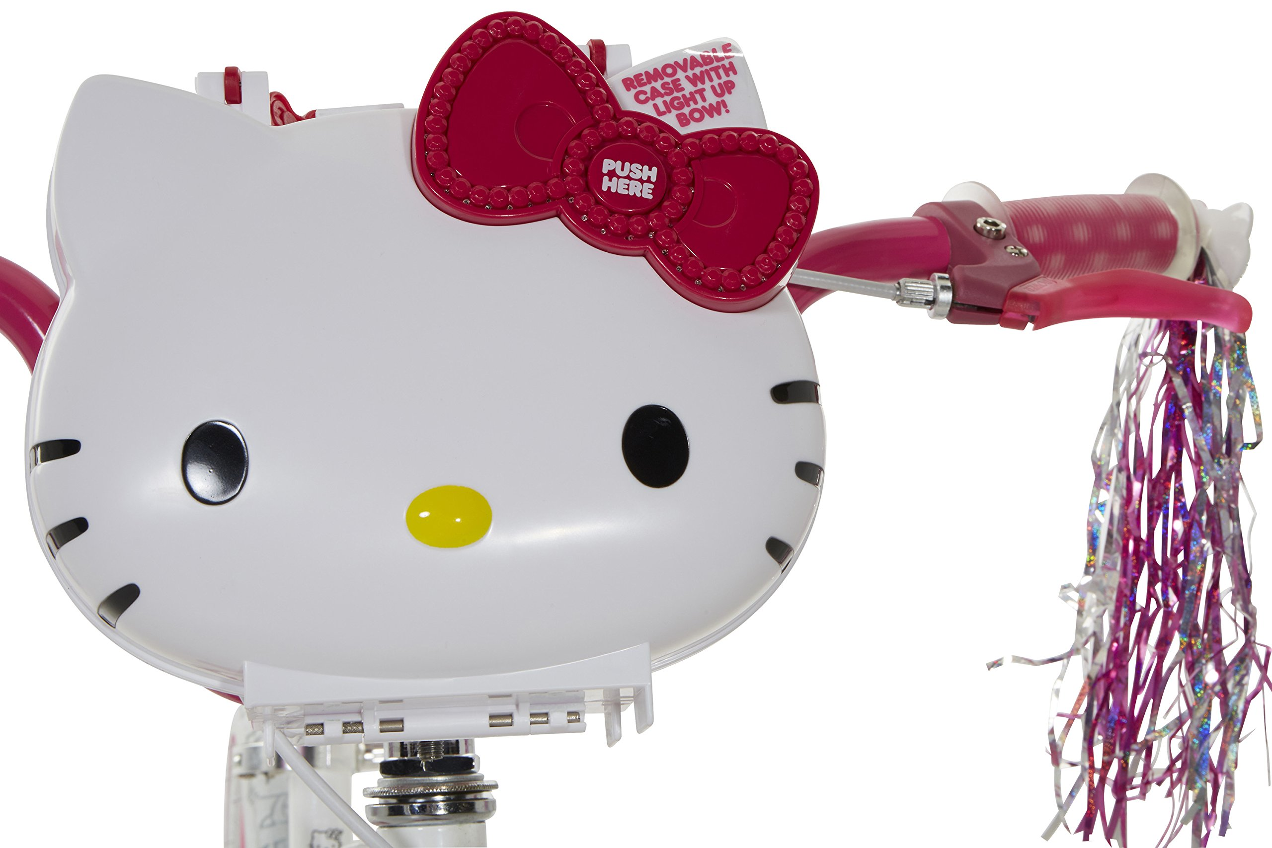 Hello Kitty Girls Bike with Light Up Case, White/pink, 16'' by Hello Kitty (Image #2)