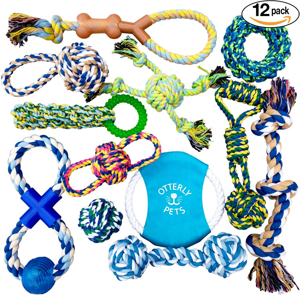 Otterly Pets Puppy Dog Pet Rope Toys - Small to Large Dogs (12-Pack) by Otterly Pets (Image #1)