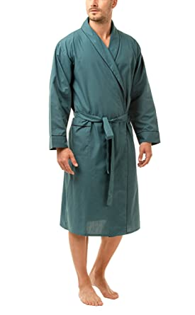 Haigman Mens Easy Care Dressing Gown Bath Robe With Cotton