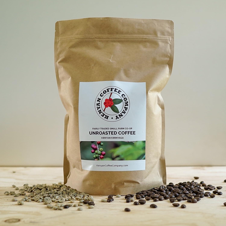 Single Origin Unroasted Green Coffee Beans, AA Grade From Small Single Kenyan Farm -Direct Trade (5 pounds) Kenya Coffee Company