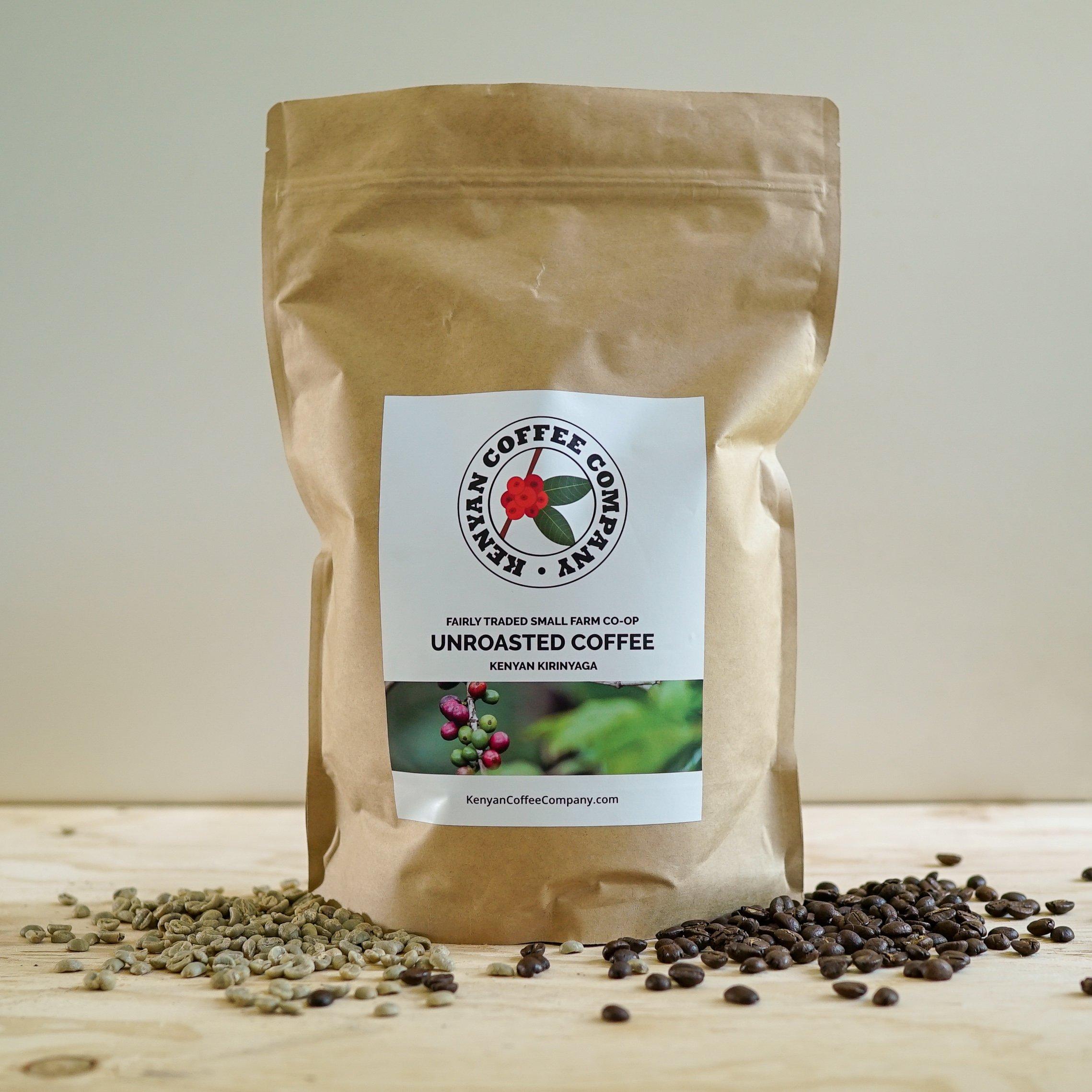 Single Origin Unroasted Green Coffee Beans, AA Grade From Small Regional Kenyan Coffee Farmer Co-Op. Direct Trade (3 pounds) by Kenyan Coffee Company