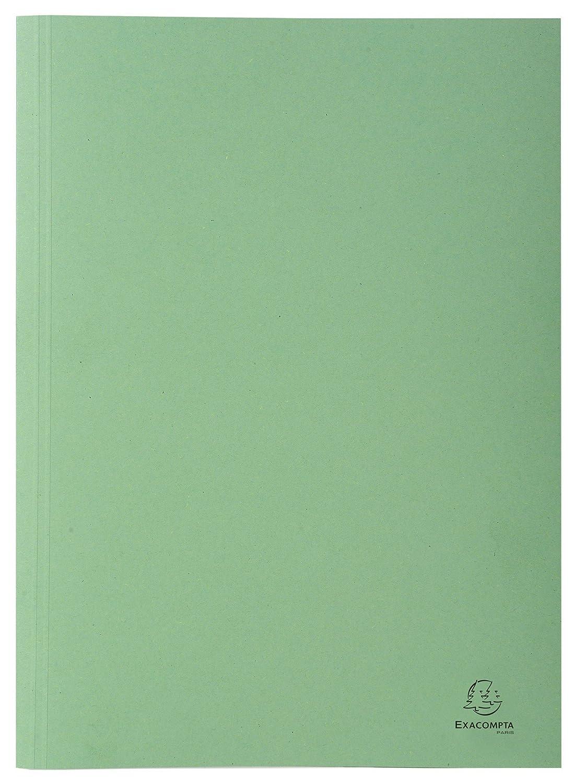 Recycling-Karton, gerilltem R/ücken, Kapazit/ät bis 350 Blatt, 250g, DIN A4 Exacompta 389025B Aktendeckel 100er Pack gr/ün