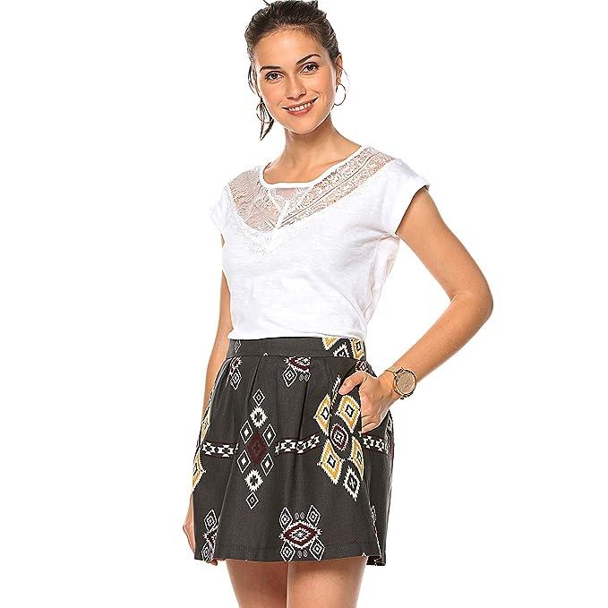 Only Falda Corta Plisada con Vuelo para Mujer Mujer - 023923 ...
