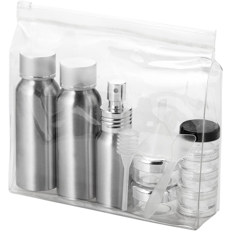 Set Flaconcini Vuoti da Viaggio in Alluminio Frankfurt Bottigliette Flaconi Ideali per Shampoo Sapone Liquido Approvati dalle Compagnie Aeree