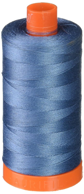 Aurifil A1050-1126 Solid 50wt 1422yds Blue Grey Mako Cotton Thread Aurifil USA