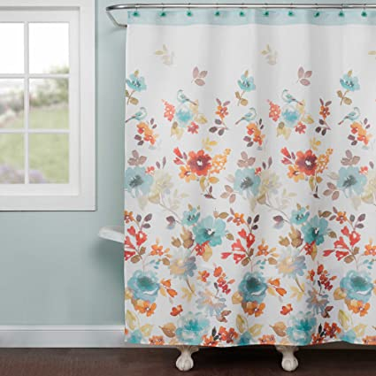 Saturday Knight Natures Palette Shower Curtain Multi