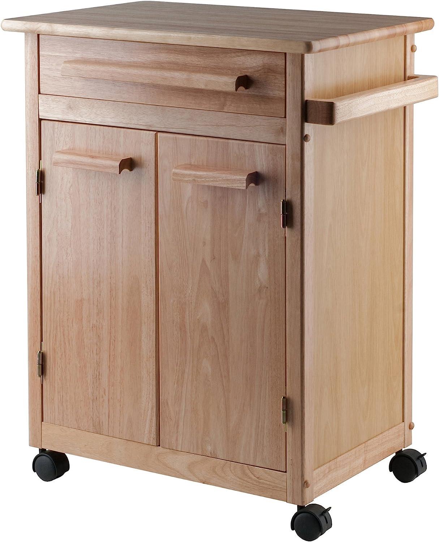 B000NPQFLA Winsome Wood Single Drawer Kitchen Cabinet Storage Cart, Natural 817-mZQTg4L.SL1500_