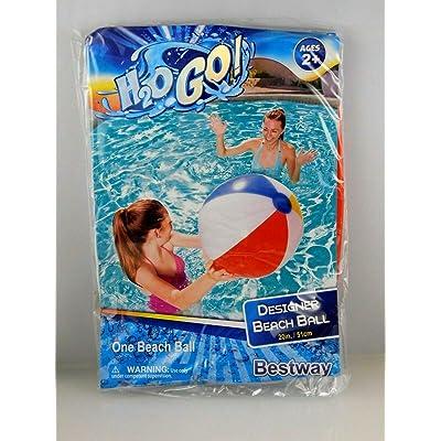 Bestway Beach Ball H2O GO! 20in: Toys & Games