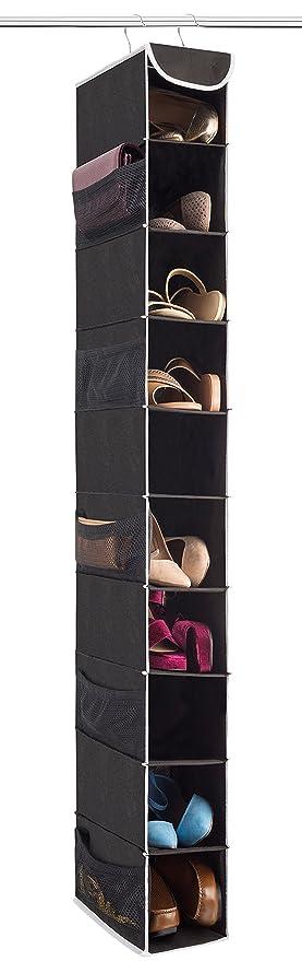 Charmant ZOBER 10 Shelf Hanging Shoe Organizer, Shoe Holder For Closet   10 Mesh  Pockets