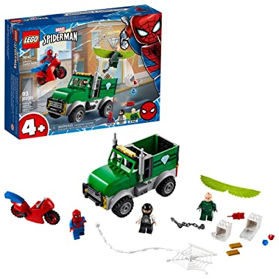 LEGO Marvel Spider-Man Vulture's Trucker Robbery 76147 Playset with Buildable Bank Truck Toy and Superhero Minifigures, New 2020 (93 Pieces): Toys & Games