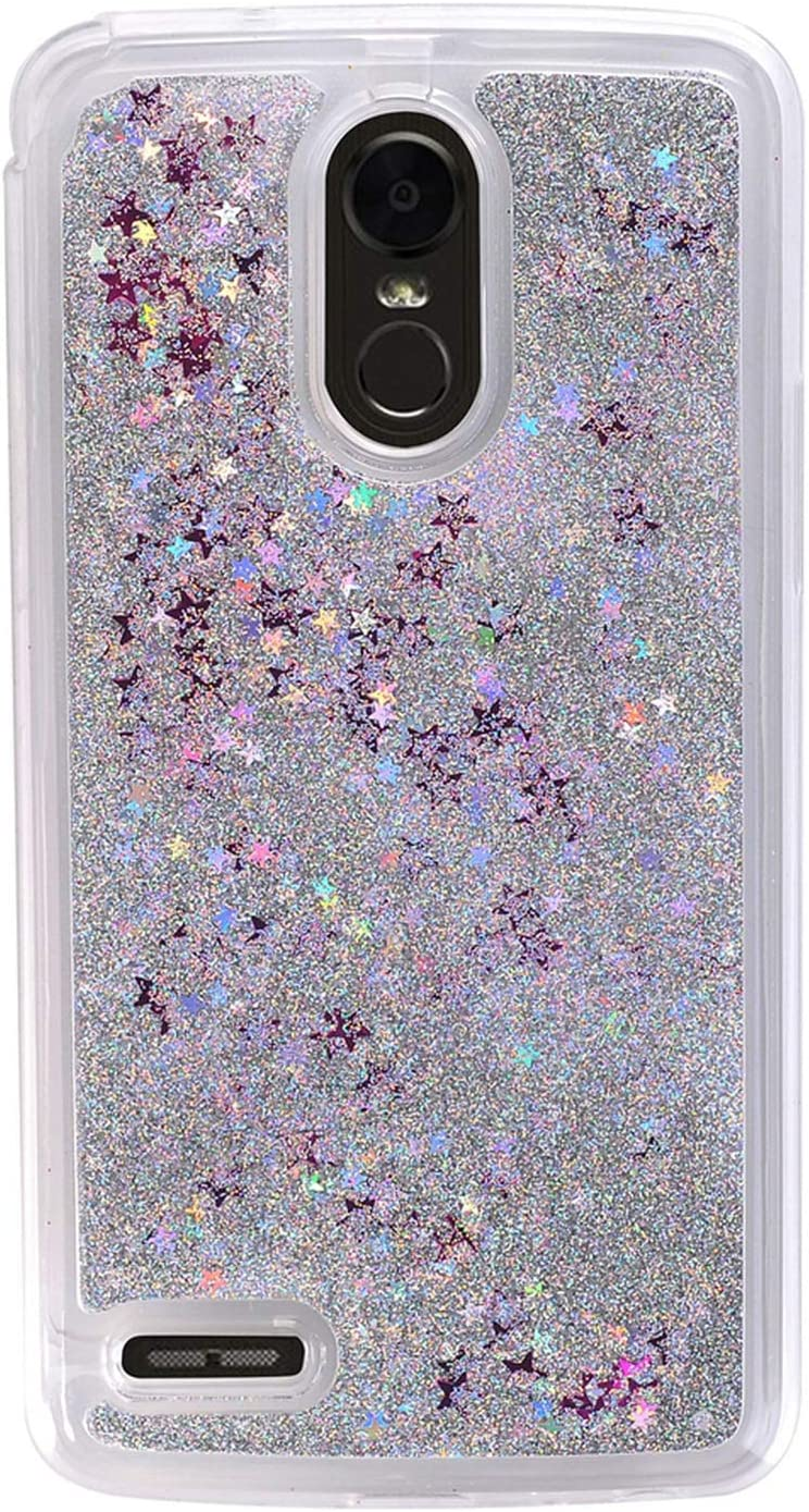 Girl Glitter Liquid Case for LG Stylo 3 2017 LS775 4 Plus Aristo 2 X210 K10 2018 Cover Shiny Sequin Bling Phone Cases,Silver,for LG X210