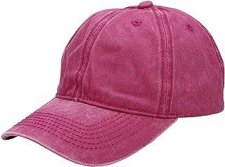 Faleto Adjustable Baseball Cap Washed Dyed Cotton Plain Peaked Hat