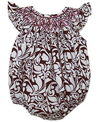 9b3dc66a8 Amazon.com  Carouselwear Baby Girls Bubble Romper with Pink Smocking ...
