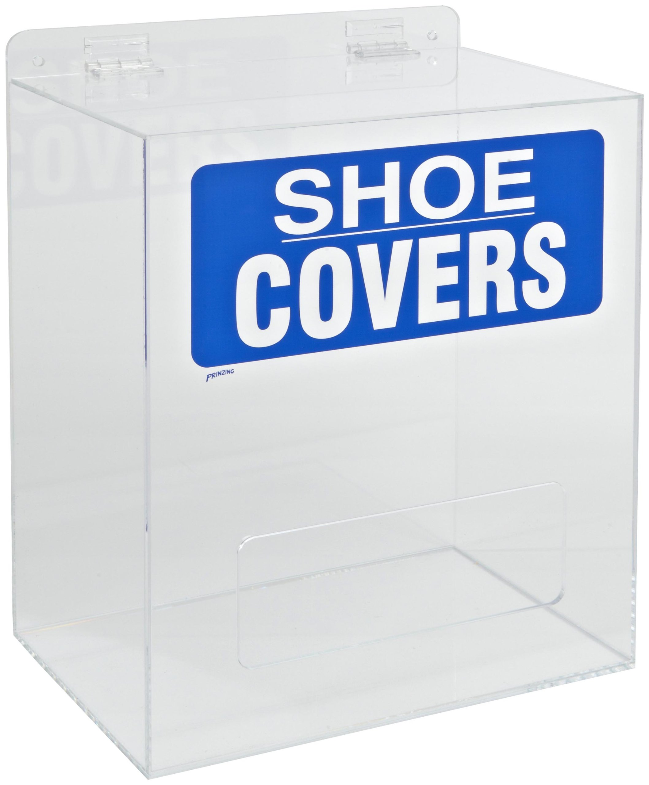 Brady PD322E Plastic Acrylic Shoe Cover Dispenser, Blue on Clear, 12'' W, 8'' D, 14'' H by Brady (Image #1)