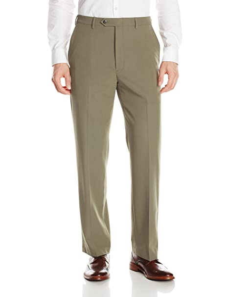b4575f118c5 Haggar Men s Comfort Luxe Dress Pant Classic Fit Flat Front  Amazon.ca   Clothing   Accessories
