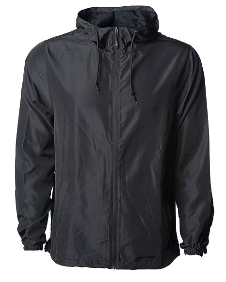 Global Blank Mens Lightweight Windbreaker Winter Jacket Water Resistant Shell