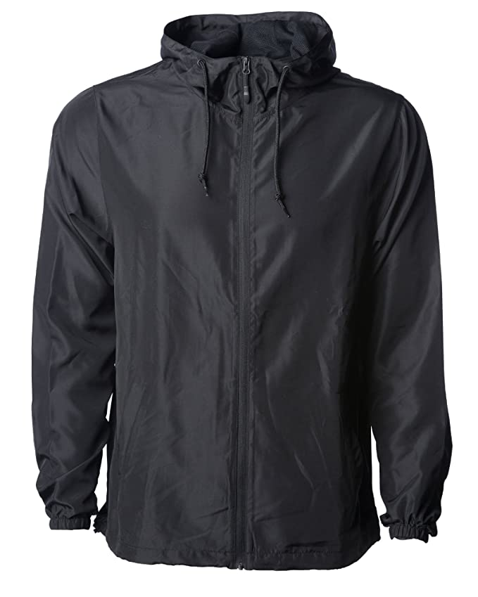 Global Blank Mens Lightweight Windbreaker Winter Jacket Water Resistant Shell