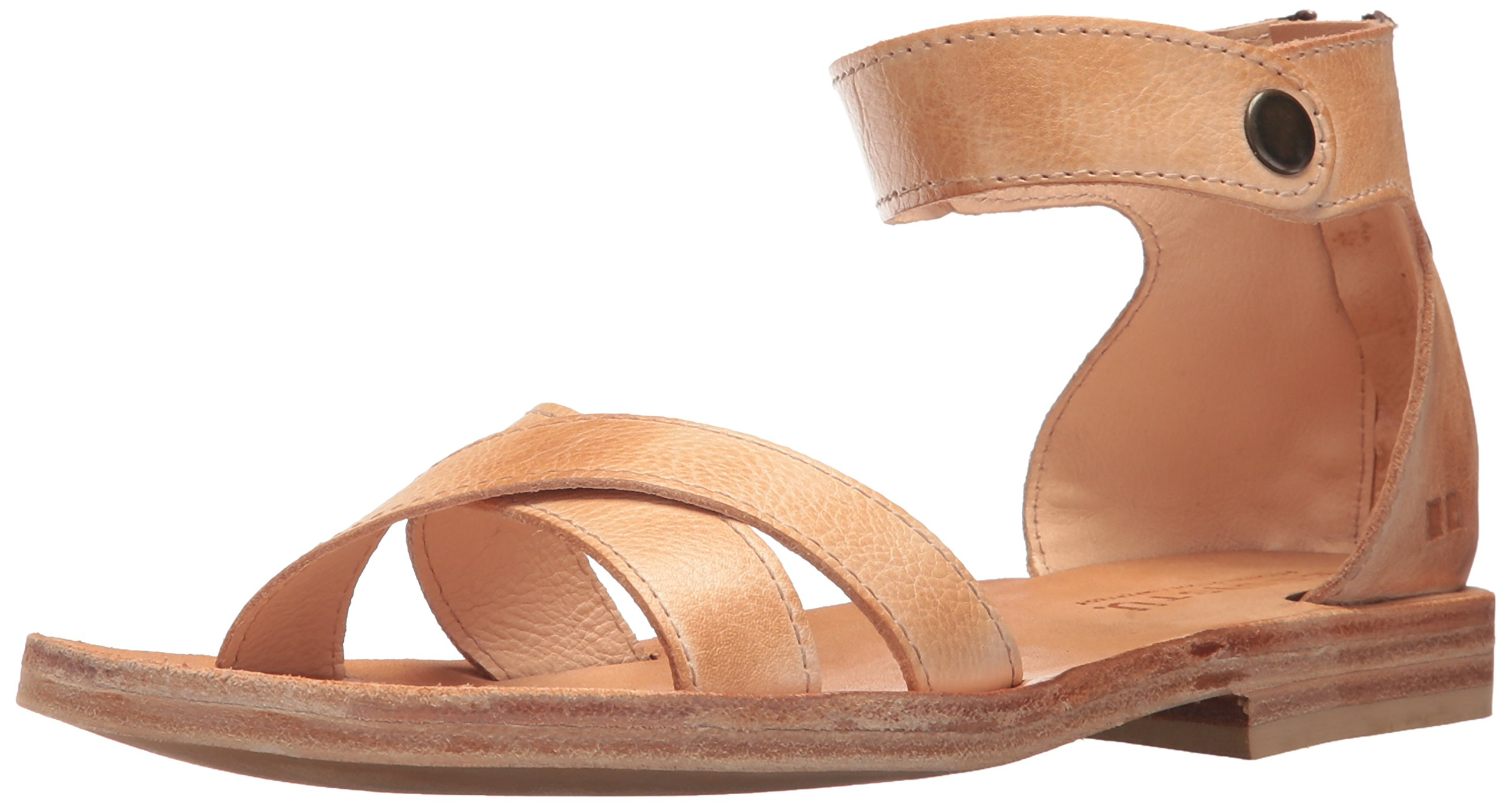Bed|Stu Women's Tulli Flat Sandal, Sand Rustic, 7 M US