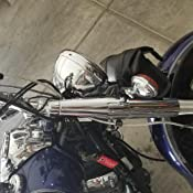 Yamaha V-Star 650 Custom 2014 Galfer Front Steel Braided Brake Line Standard Length Clear//Silver Fits