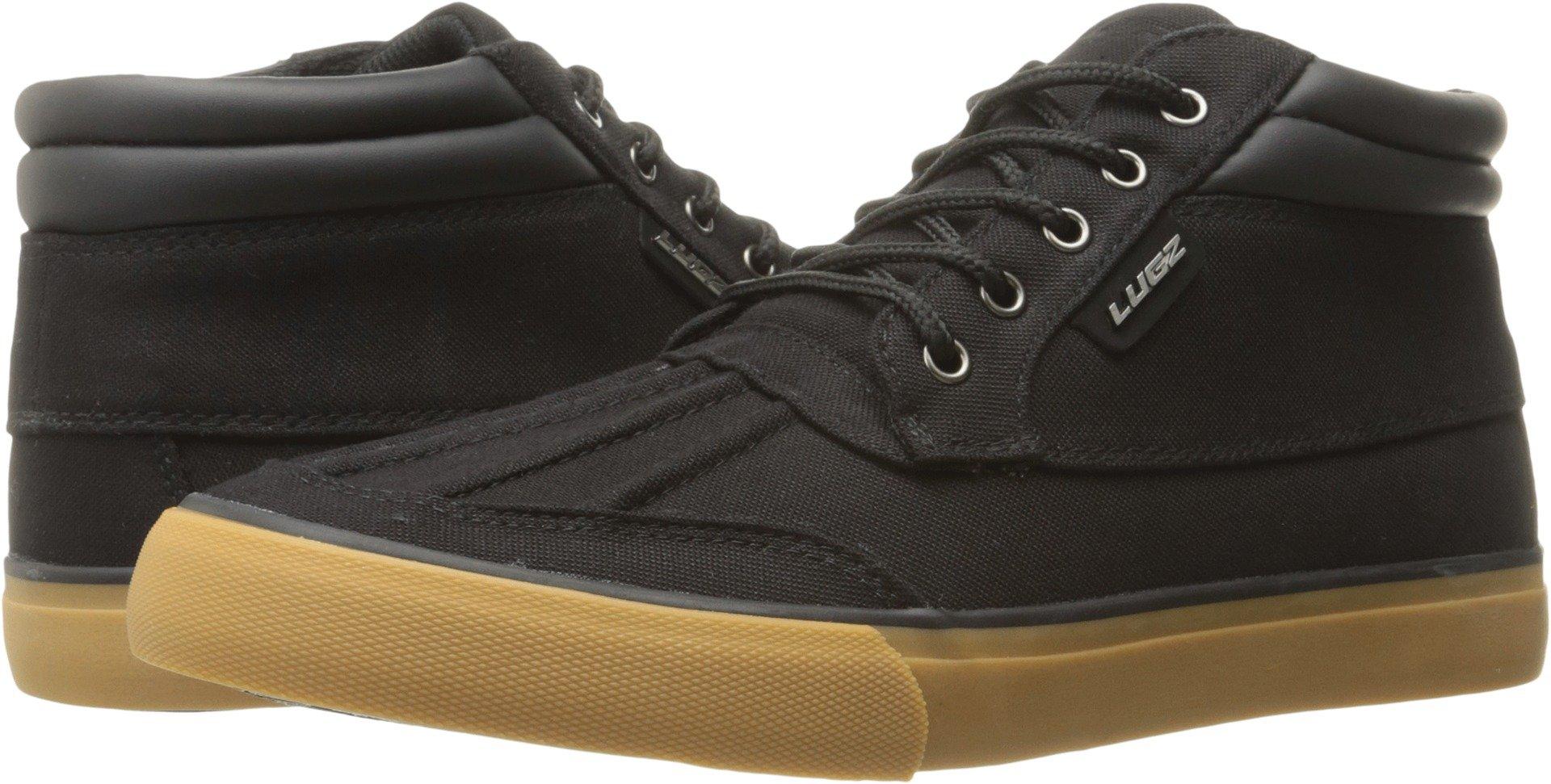 Lugz Men's Boomer Fashion Sneaker, Black/Gum, 10.5 M US