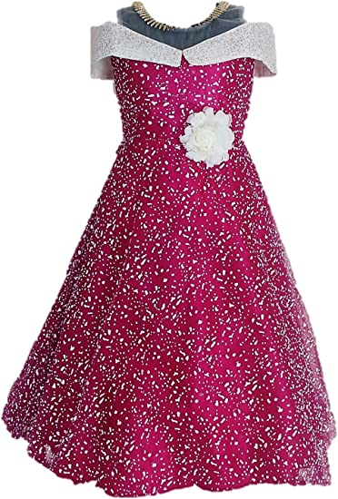 My Lil Princess Baby Girls Birthday Frock Dress_Blue Polka_0-10 Years Girls' Dresses & Jumpsuits at amazon