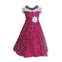 My Lil Princess Girls' A-Line Maxi Dress Purple Polka_2-3 Years