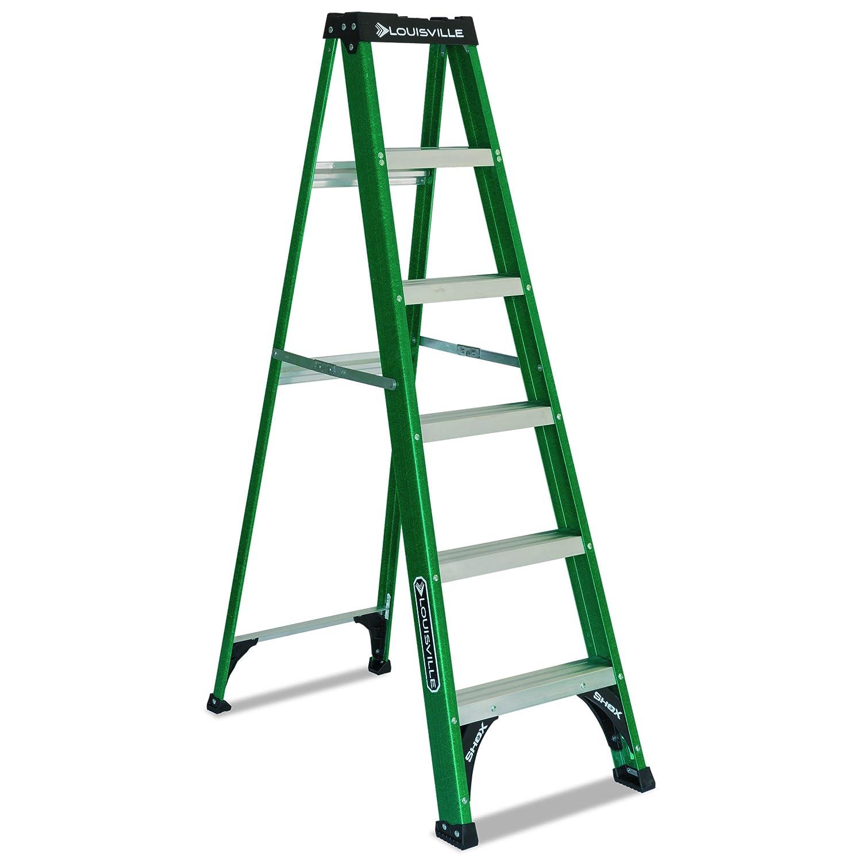 Davidson escalera 592 – 06bx Fibra de vidrio comercial escalera, 1/4 de ancho, altura de 72 cm, 43 – 1/2