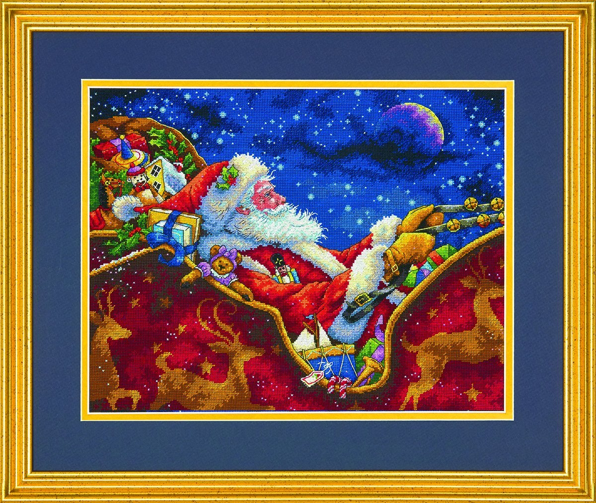 Dimensions Crafts 70-08934 Needlecraft Santa's Midnight Ride in Counted Cross Stitch IDEAL DESIGN ENTERPRISES CO. LTD