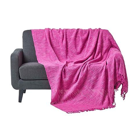 Homescapes Funda Sofa de 255 x 360 cm color Rosa en algodón ...
